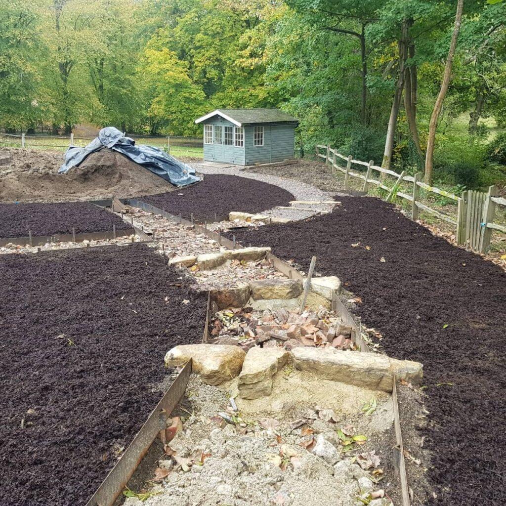 hard landscaping for garden makeover