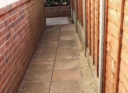 a safe entranceway to the back garden