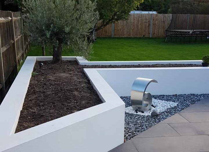 contemporary art as part of a garden makeover