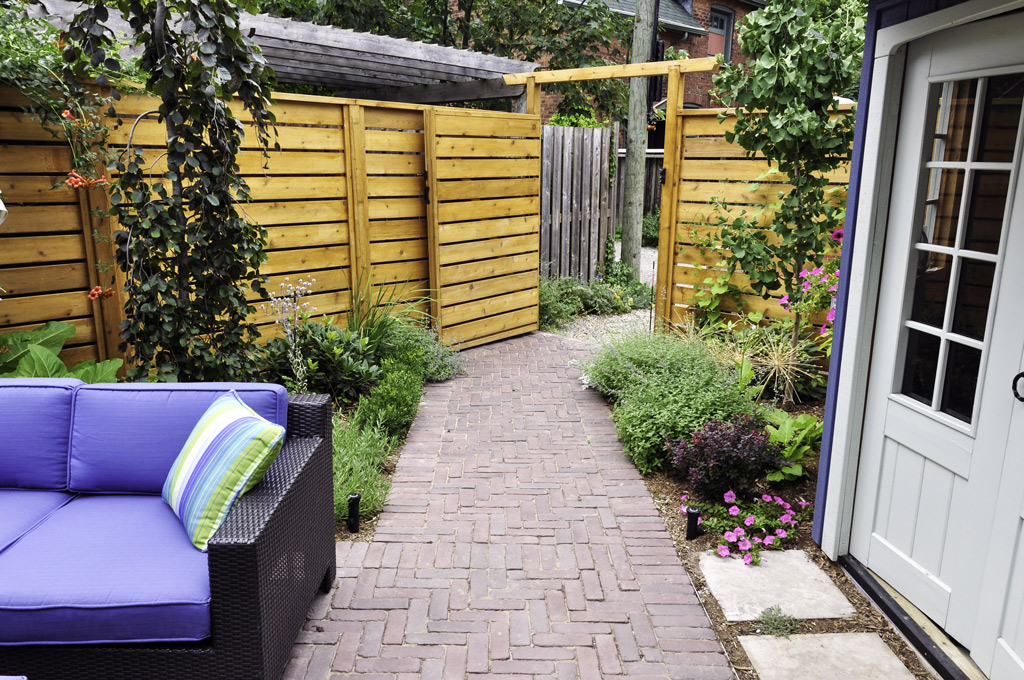 attractive small garden with seating