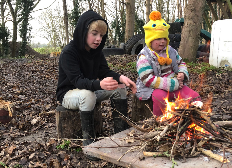 things to do in your garden this winter - toasting marshmallows