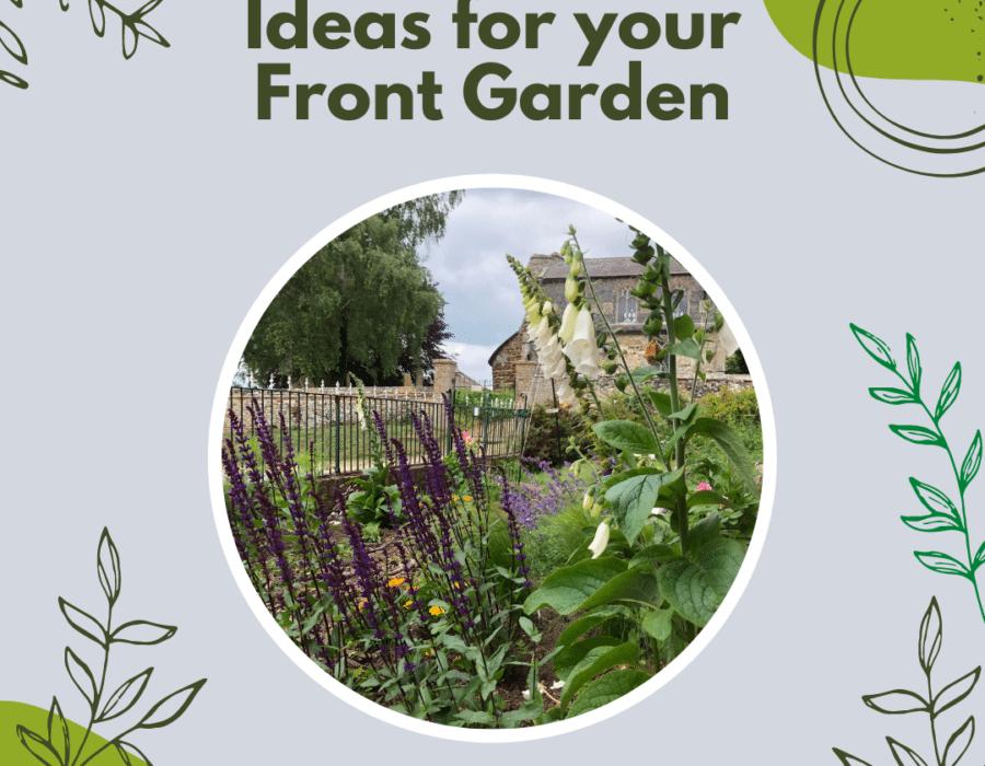 blog header for ideas for front gardens